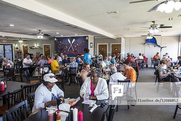 North Carolina  NC  Calabash  fishing town  regional cuisine  dining  Captain Nance's Seafood  restaurant  interior