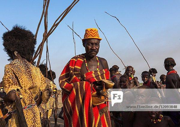 Dimi ceremony in Dassanech tribe to celebrate circumcision of teenagers  Turkana County  Omorate  Ethiopia.