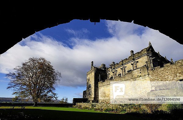 View of Queen Anne Garden at Stirling Castle in Stirling  Scotland  United Kingdom.