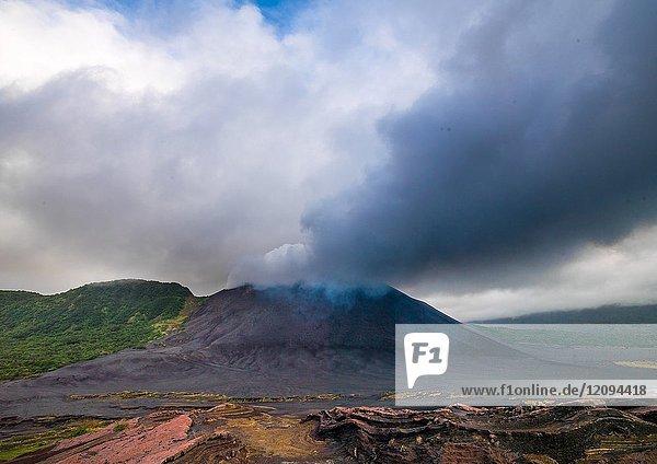 Eruption of mt Yasur volcano  Tanna island  Mount Yasur  Vanuatu.