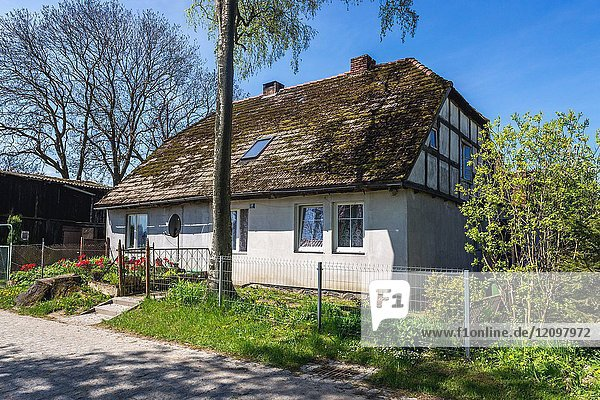 House in small Lacko village in West Pomeranian Voivodeship of Poland.