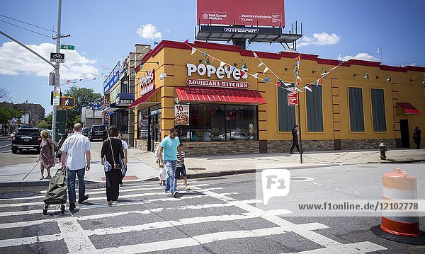 A Popeye's Louisiana Kitchen fast food restaurant in Woodside in Queens in New York on Sunday  July 9  2017 (© Richard B. Levine).