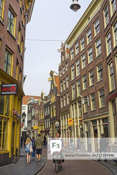 Zeedijk  old town  Amsterdam  The Netherlands.
