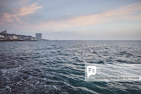 Sea at sunset  Odessa  Odessa Oblast  Ukraine  Europe