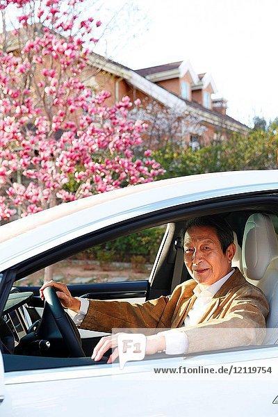 Older men travel by car