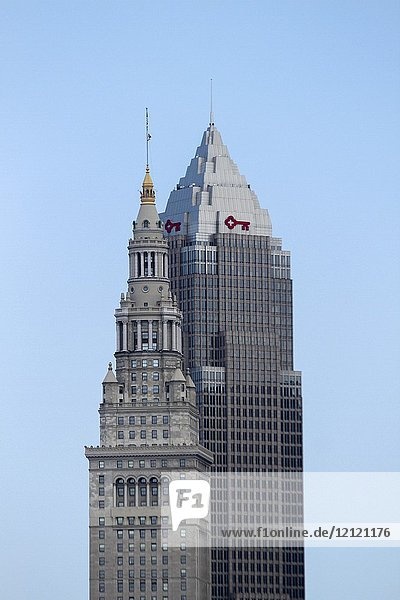 Key Tower  completed in 1991 (right) and Terminal Tower  completed in 1930 (left) are the tallest and second tallest buildings  respectively  in Cleveland  Ohio  United States.