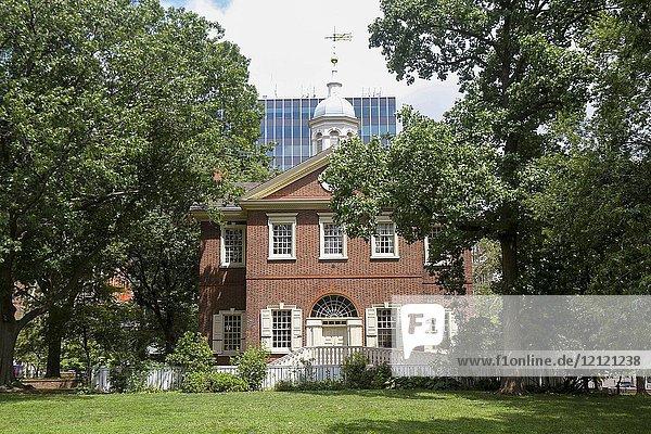Carpenters' Hall  Independence National HIstoric Park  Philadelphia  Pennsylvania  United States.