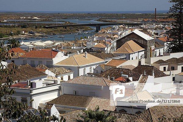 Tavira (Portugal). Overview of the town of Tavira from the Castle.