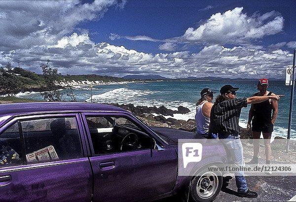 Byron bay on the coast pacifique. new south wales  australia 1993