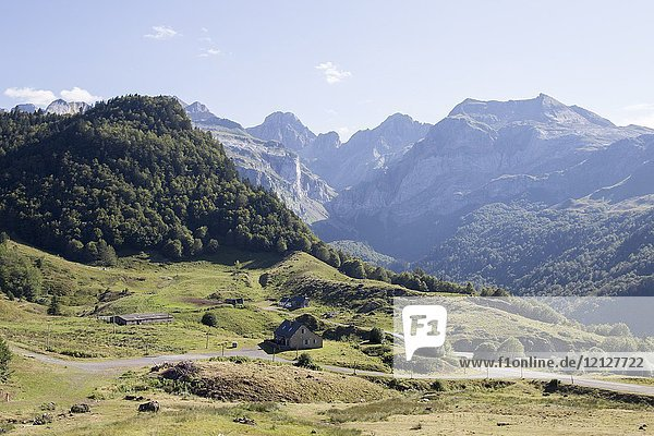Landscape Aquitaine Pyrenees France.