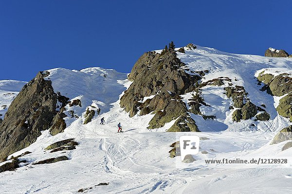 Brevant ski area  Chamonix Valley Mont Blanc French Alps Haute Savoie France Europe.