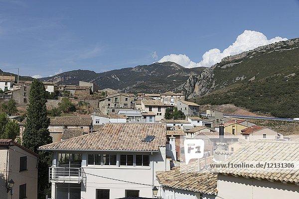 Nueno village Huesca Aragon Spain.