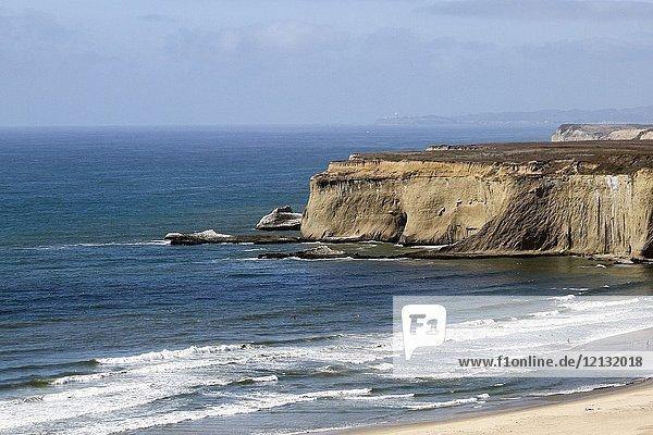 Cliffs  Half Moon Bay  California  United States  North America.