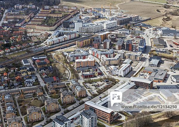 Luftaufnahme von Uppsala  Schweden
