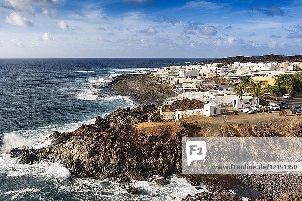 Fishing village  El Golfo. Lanzarote Island. Canary Islands Spain. Europe.
