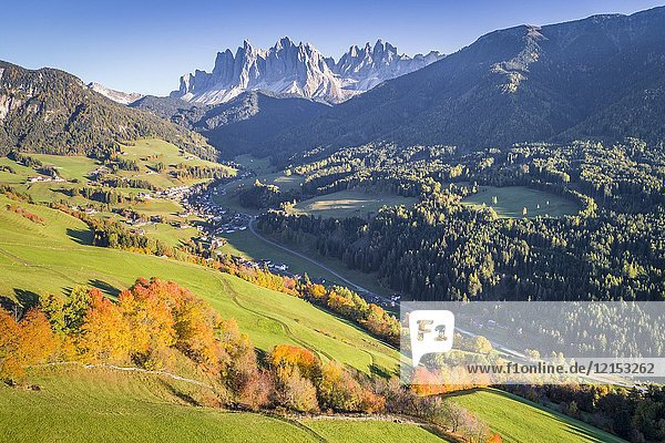 Santa Magdalena  Funes valley. Puez Odle Natural Park  South Tyrol  Italy.