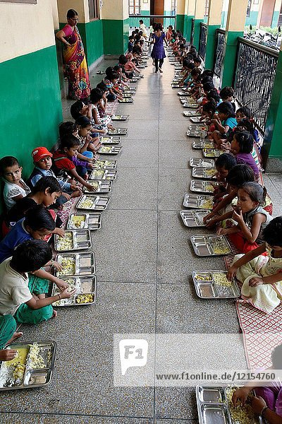 Sandipani Muni School for needy girls run by Food for Life Vrindavan.