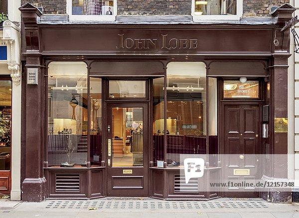 John Lobb Shop  Jermyn Street  London  England  United Kingdom.