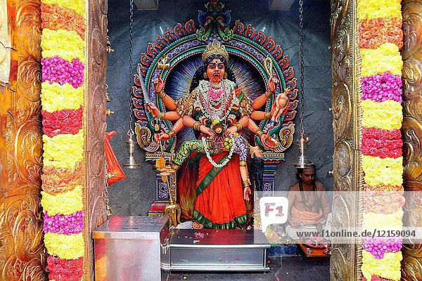 Sri Veeramakaliamman Hindu Temple. Hindu deity: Sri Periachi.