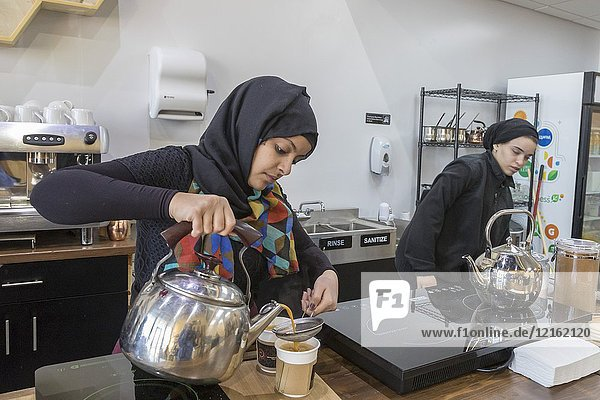 Dearborn  Michigan - A coffee shop called Qahwah House  which imports and serves coffee exclusively from Yemen. Coffee is said to have originated in Yemen in the 15th century. There is a large population of Yemenis and other Middle Eastern immigrants in the Detroit area.