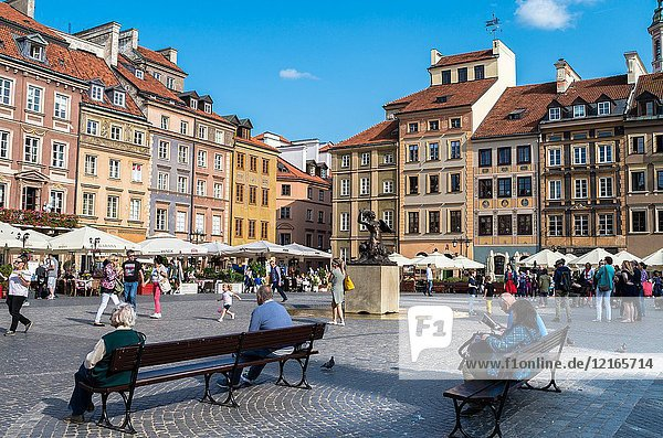 Old Town Market Place,  Warsaw,  Poland.