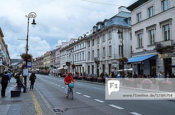 Street Nowy Swiat  Warsaw  Poland.