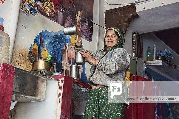 The chai aritst,  Bundi,  Rajasthan,  India.