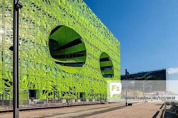 Euronews Headquarters  Stadtentwicklungsgebiet ZAC Confluence  Lyon  Rhône-Alpes  Frankreich  Europa