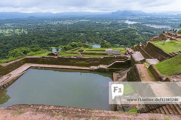 Bathing Pool on the Summit of Sigiriya Lion Rock Fortress  Ancient City of Sigiriya  North Central Province  Sri Lanka  Asia.