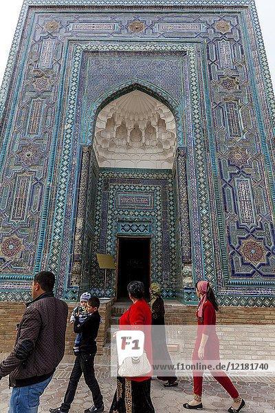 Usto Ali Nesefi Mausoleum  The Shah-i-Zinda Mausoleum Complex  Samarkand  Uzbekistan.