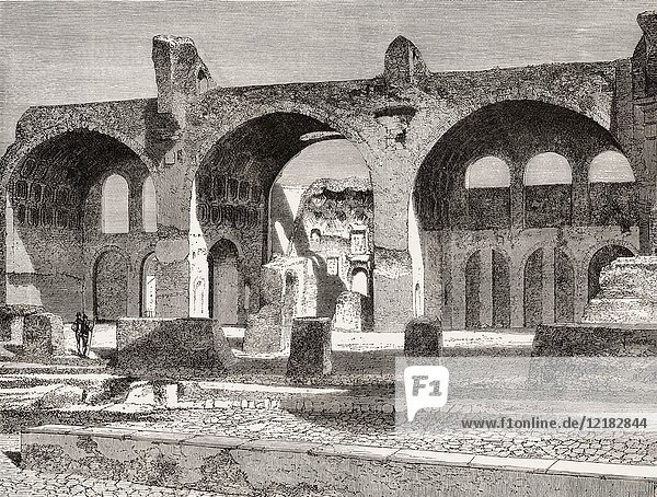The Basilica of Maxentius and Constantine  Rome  Italy  19th Century.