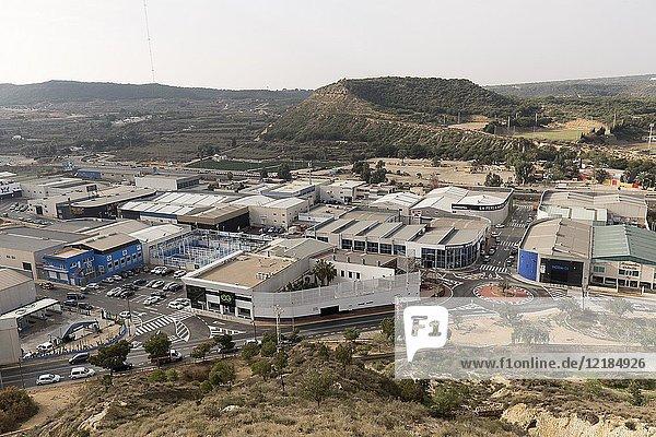Guardamar del Segura  Spain. February 1  2018: views of the industrial polygon of Guadamar del Segura  in the province of Alicante  Spain.