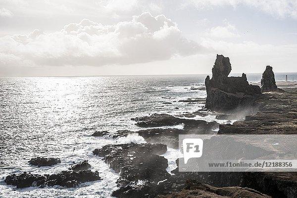 Londrangar Rock in Snæfellsnes peninsula (region of Vesturland  Iceland).