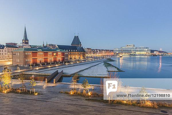 Dänemark  Aarhus  Blick auf Hafen  Zollhaus und Navitas