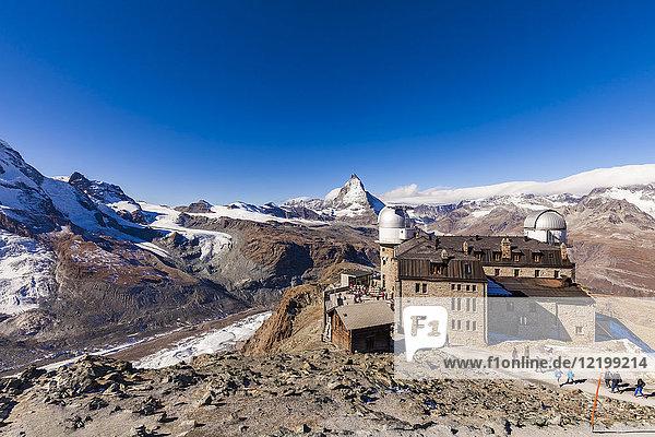 Switzerland  Valais  Zermatt  Matterhorn  Gornergrat  Mountain station  Kulmhotel  observatory