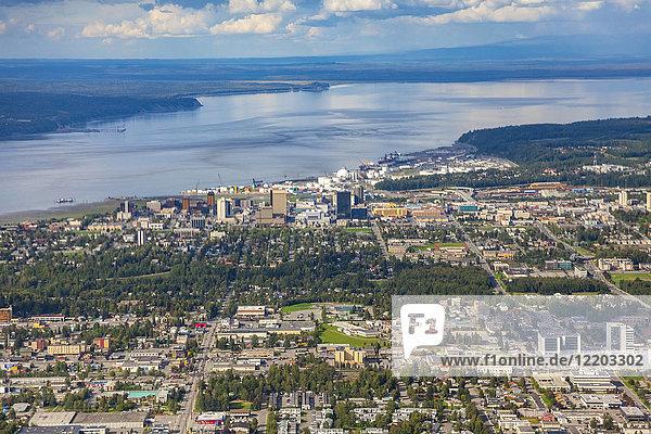 USA  Alaska  Anchorage  Luftaufnahme