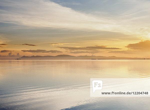 Lake Titicaca at sunrise  Puno  Peru  South America