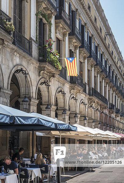 Plaza Real  Barcelona  Catalonia  Spain  Europe