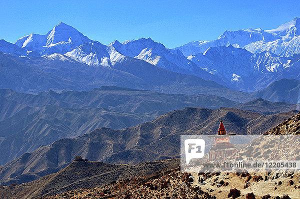 Annapurna landscape  Mustang  Nepal  Himalayas  Asia