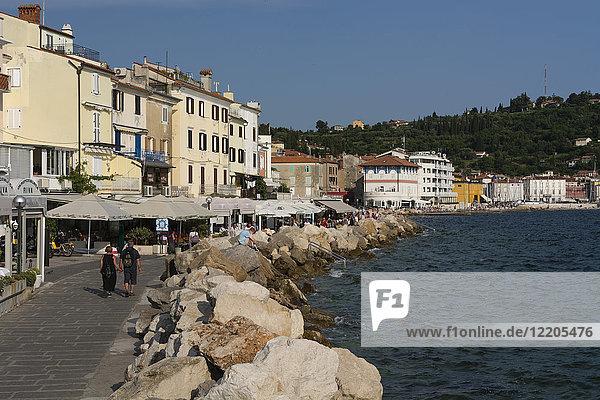 Piran waterfront  Slovenia  Europe