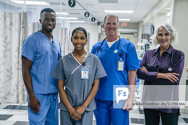 Portrait of medical team in hospital