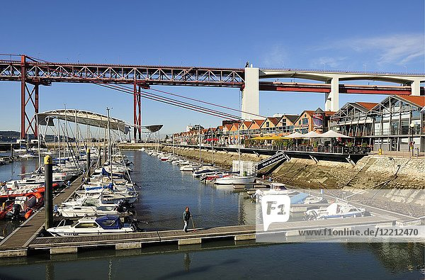 Marina of Santo Amaro. Lisbon  Portugal.