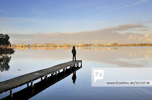 The lagoon of Mira  place of tranquility and meditation. Portugal.