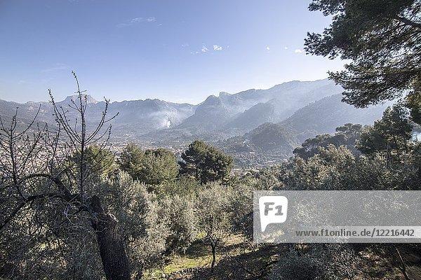 Tramuntana mountains to Soller Majorca  Balearic Islands  Spain.