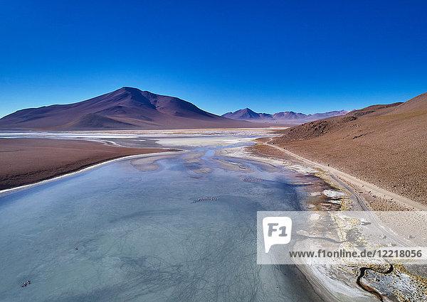 Landschaftliche Ansicht der Landschaft  Salar de Chalviri  Chalviri  Oruro  Bolivien  Südamerika