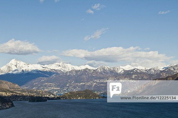 The Como lake seen from Val d'Intelvi  Lombardy  Italy