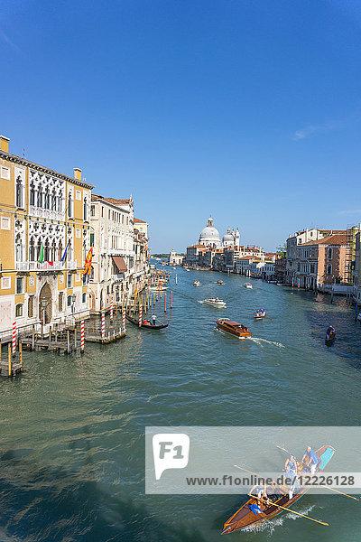 Italy  Veneto  Venice  Canal Grande from Accademia bridge