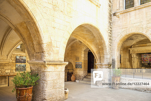 Les Baux De Provence  France  The courtyard of the town hall