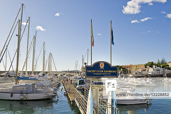 Yacht club  Sanremo  Imperia province  Italy