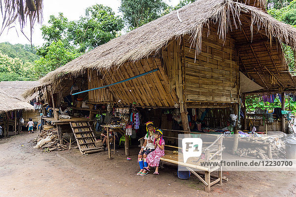 Asia  Thailand  Chiang Mai  Ban Huay Pa Rai Hill Tribe Village  long neck woman